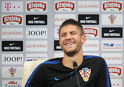 June 11, 2018 - Roschino, Russia - Andrej Kramaric of the Croatia national football team takes part in a press conference at Roschino Arena in Roschino, Russia, on June 11, 2018, ahead of the Russia 2018 World Cup. (Credit Image: © Igor Russak/NurPhoto via ZUMA Press)