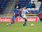 Dundee's Julen Etxabeguren and Inverness' Henri Anier - Inverness Caledonian Thistle v Dundee in the Ladbrokes Scottish Premiership at Caledonian Stadium, Inverness.Photo: David Young<br /> <br />  - © David Young - www.davidyoungphoto.co.uk - email: davidyoungphoto@gmail.com