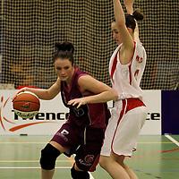 TUBBERGEN..Basketbal vrouwen, eredivisie: Twente-Amazone..Foto:Milou Dekker en Britt Lansaat..Editie: Sport....ffu press agency©2010 Wilco van Driessen..TT20101701..