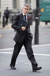 © Licensed to London News Pictures. 30/10/2017. London, UK. Gavin Williamson attends cabinet on Tuesday - the former chief whip as just been appointed Defence Secretary after the resignation of Sir Michael Fallon. Photo credit: Peter Macdiarmid/LNP