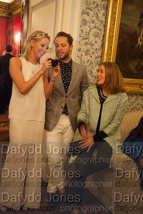 SOPHIA HESKETH; DEREK BLASBERG; NINA FLOHR, Tatler magazine Jubilee party with Thomas Pink. The Ritz, Piccadilly. London. 2 May 2012