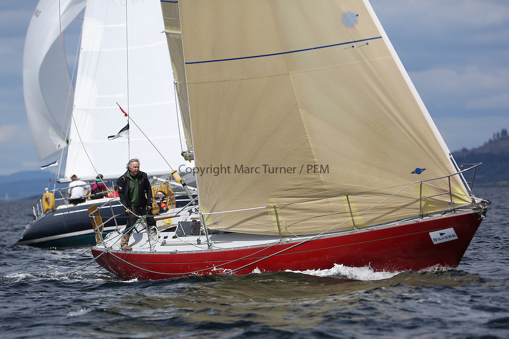 The Silvers Marine Scottish Series 2014, organised by the  Clyde Cruising Club,  celebrates it's 40th anniversary.<br /> Day 2, K4203, Stargazer, G. MacLeod/A. Bisland, CCC / Arran YC , Grand Soleil 34<br /> Racing on Loch Fyne from 23rd-26th May 2014<br /> <br /> Credit : Marc Turner / PFM
