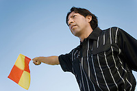 Linesman Waving Flag