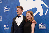 Lena Suijkerbuijk and Sebastian Van Dun at the Home film photocall at the 73rd Venice Film Festival, Sala Grande on Saturday September 3rd 2016, Venice Lido, Italy.