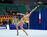"Alexandra Agiurgiuculese by team italia of rhythmic gymnastics  during the ""7th tournament city of Desio"", 09 March 2019."