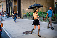 A nude Girl Topless walks in new york city on park avuneu ROBIN UTRECHT