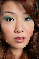 Close-up portrait of beautiful Chinese woman