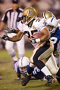 JACKSON, MS - AUGUST 26:  Running back Jamaal Branch of the New Orleans Saints runs with the ball against the Indianapolis Colts on August 26, 2006 at Veterans Memorial Field in Jackson, Mississippi.  The Colts won 27 to 14.  (Photo by Wesley Hitt/Getty Images) *** Local Caption *** Jamaal Branch