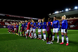 Mascots shakes hands with Everton Women prior to kick off - Mandatory by-line: Ryan Hiscott/JMP - 17/02/2020 - FOOTBALL - Ashton Gate Stadium - Bristol, England - Bristol City Women v Everton Women - Women's FA Cup fifth round