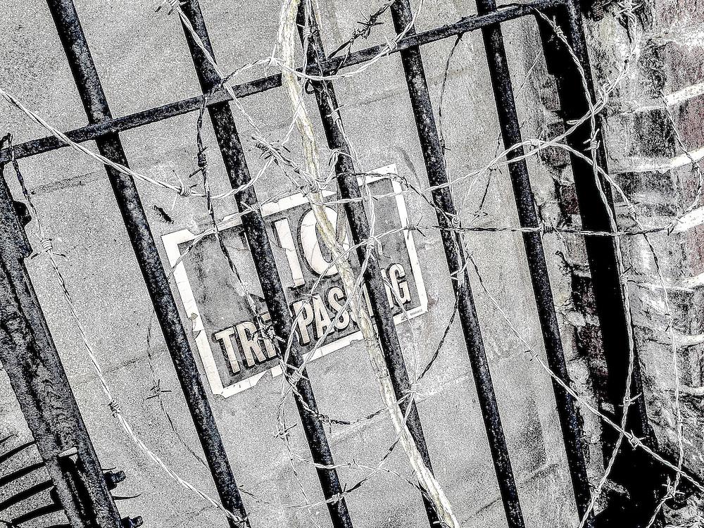 No Trespassing. Photo by Richard M. Porter