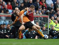 James Milner<br /> Aston Villa 2009/10<br /> Karl Henry Wolverhampton Wanderers<br /> Aston Villa V Wolverhampton Wanderers 20/03/10<br /> The Premier League<br /> Photo Robin Parker Fotosports International