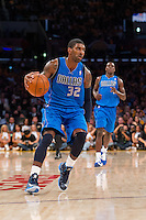30 October 2012: Guard (32) O.J. Mayo of the Dallas Mavericks dribbles the ball up the court against the Los Angeles Lakers during the first half of the Mavericks 99-91 victory over the Lakers at the STAPLES Center in Los Angeles, CA.