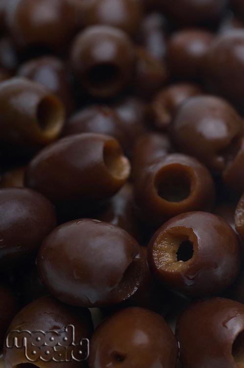 Black olives, close-up