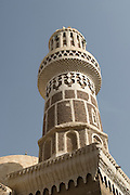 Minaret of Talhah Mosque in Old City of San'a'.