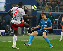 November 5, 2019, Saint-Petersburg, Russia: Russian Federation. Saint-Petersburg. Gazprom Arena. Football. UEFA Champions League. Group G. round 4. Football club Zenit - Football Club RB Leipzig. Player of Zenit football club Daler Kuzyaev, Deathsangel Pamakana (Credit Image: © Russian Look via ZUMA Wire)