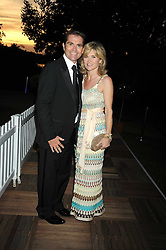 GRANT BOVEY and ANTHEA TURNER at the Royal Parks Foundation Summer Party hosted by Candy & Candy on the banks of the Serpentine, Hyde Park, London on 10th September 2008.