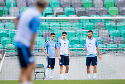 Andraz Struna, Branko Ilic and Bostjan Cesar during practice session of Slovenian National Football Team before Euro 2016 Qualifications match against Switzerland, on September 1, 2015 in SRC Stozice, Ljubljana, Slovenia. Photo by Urban Urbanc / Sportida