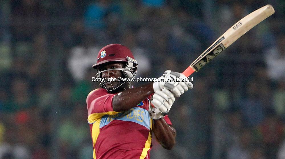 Darren Sammy batting - Pakistan v West Indies, Shere Bangla National Stadium, Mirpur, Bangladesh. 1 April 2014. Photo: www.photosport.co.nz