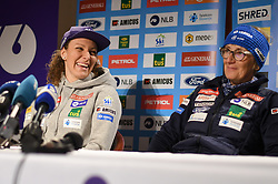 Ilka Stuhec and her mother Darja Crnko during press conference after the end of Alpine Ski season 2018/19, on March 25, 2019, in Narodni dom, Maribor, Slovenia. Photo by Milos Vujinovic / Sportida