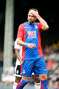 Crystal Palace defender, Damien Delaney (27) touching his head during the Pre-Season Friendly match between Fulham and Crystal Palace at Craven Cottage, London, England on 30 July 2016. Photo by Matthew Redman.