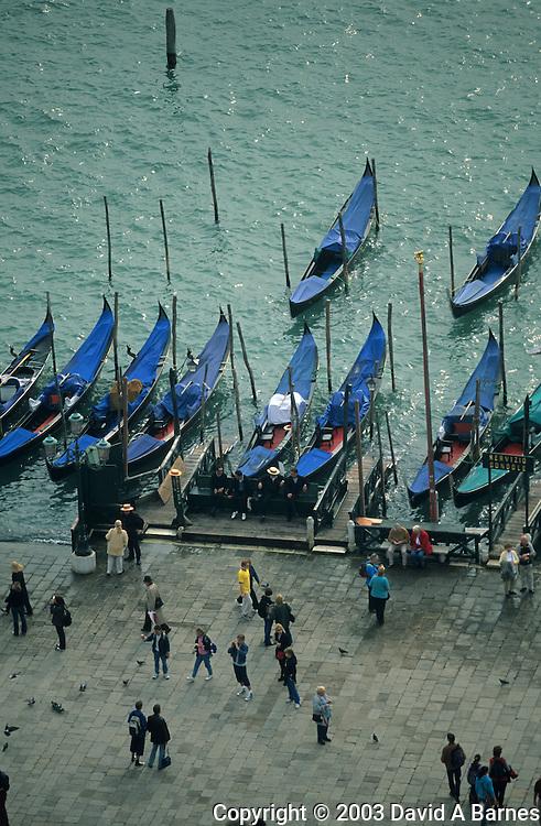 Piazza San Marco, gondolas, Venice, Italy