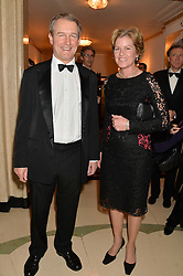 OWEN PATERSON MP - The Secretary of State for Environment, Food and Rural Affairs and his wife ROSE PATERSON at the Tusk Friends Dinner in aid of wildlife charity Tusk held at Claridge's, Brook Street, London on 11th March 2014.