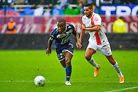 Lionel CAROLE / Chahir BELGHAZOUANI - 10.01.2014 - Troyes / Brest - 19e journee Ligue 2<br /> Photo : Dave Winter / Icon Sport