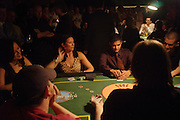 Jennifer Tilley, Mimi Rogers  and Nicholas gonzales. Opening Night Party of the first  cards tournament hosted by online poker website World Poker Exchang. Old Billingsgate Market, London. 3 August 2005. ONE TIME USE ONLY - DO NOT ARCHIVE  © Copyright Photograph by Dafydd Jones 66 Stockwell Park Rd. London SW9 0DA Tel 020 7733 0108 www.dafjones.com