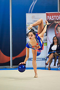 Francesca Ferrari  from San Giorgio Desio team during the Italian Rhythmic Gymnastics Championship in Padova, 25 November 2017.