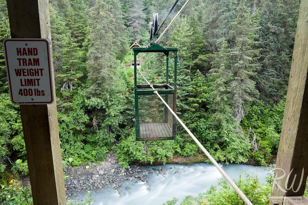 Hand Tram High Above Winner Creek, Chugach National Forest, Alaska