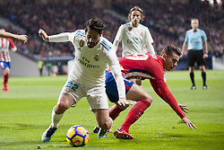 November 18, 2017 - Madrid, Madrid, Spain - Isco, Lucas during the match between Atletico de Madrid and Real Madrid, week 12 of La Liga at Wanda Metropolitano stadium, Madrid, SPAIN - 18th November of 2017. (Credit Image: © Jose Breton/NurPhoto via ZUMA Press)
