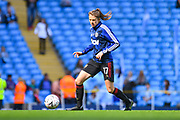 Manchester United Women forward Lizzie Arnot (17) warming up during the FA Women's Super League match between Manchester City Women and Manchester United Women at the Sport City Academy Stadium, Manchester, United Kingdom on 7 September 2019.