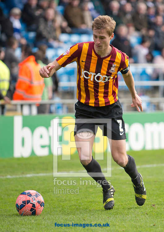 Stephen Darby of Bradford City during the The FA Cup match at Shay Stadium, Halifax<br /> Picture by Russell Hart/Focus Images Ltd 07791 688 420<br /> 09/11/2014