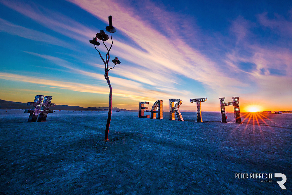 Burning Man  @ Earth # Home by Laura Kimpton - Photograph - Peter Ruprecht