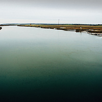 Looking across the flood plain over the river Blyth at Walberswick near Southwold in Suffolk