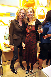 Left to right, MARY GREENWELL and MARYAM D'ABO at a Champagne & chocolate party hosted by Roger Vivier at their store in Sloane Street, London on 12th February 2009.  The evening was in aid of The Silver Lining charity.