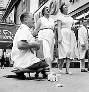 Legless World War II veteran in Times Square.<br />