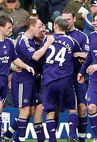 Photo: Steve Bond/Richard Lane Photography. West Bromwich Albion v Newcastle United. Barclays Premiership. 07/02/2009. Damien Duff (rear) is congratulated