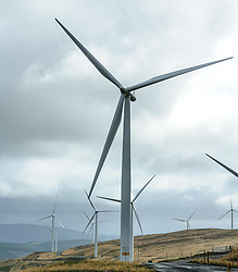The 152 turbine Clyde Wind Farm in South Lanarkshire officially opened on 14th September 2012 by Alex Salmond, First Minister of Scotland.<br /> <br /> (c) Andrew Wilson | Edinburgh Elite media