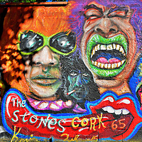 Rolling Stones Irish Tour Mural in Cork, Ireland<br />