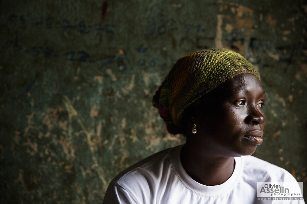 Mariam Sery, 39, who is HIV positive and pregnant for the 11th time, at her home in Abidjan, Cote d'Ivoire on Friday July 19, 2013. Mariam is taking drugs for eMTCT.