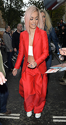 Singer Rita Ora arriving at the Band Aid 30 recording in London, UK. 15/11/2014<br />BYLINE MUST READ : GOTCHAIMAGES.COM<br /><br />Copyright by © Gotcha Images Ltd. All rights reserved.<br />Usage of this image is conditional upon the acceptance <br />of Gotcha Images Ltd, terms and conditions available at<br />www.gotchaimages.com