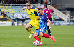 Ricky Miller of Peterborough United in action with Christian Ribeiro of Oxford United - Mandatory by-line: Joe Dent/JMP - 30/09/2017 - FOOTBALL - ABAX Stadium - Peterborough, England - Peterborough United v Oxford United - Sky Bet League One