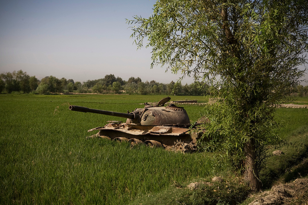 Abandoned Russian tank in Northern Afghan province