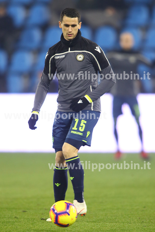 "Foto LaPresse/Filippo Rubin<br /> 26/12/2018 Ferrara (Italia)<br /> Sport Calcio<br /> Spal - Udinese - Campionato di calcio Serie A 2018/2019 - Stadio ""Paolo Mazza""<br /> Nella foto: Riscaldamento KEVIN LASAGNA (UDINESE)<br /> <br /> Photo LaPresse/Filippo Rubin<br /> December 26, 2018 Ferrara (Italy)<br /> Sport Soccer<br /> Spal vs Udinese - Italian Football Championship League A 2018/2019 - ""Paolo Mazza"" Stadium <br /> In the pic: KEVIN LASAGNA (UDINESE) warming up"