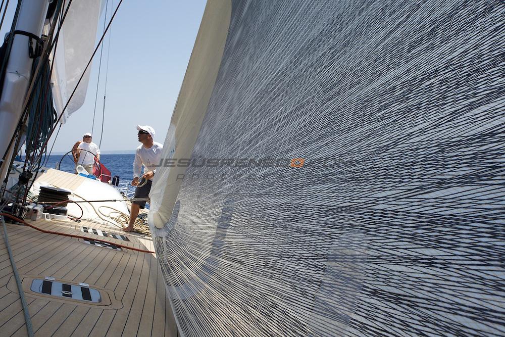WALLY 100 ALEXIA,Palma de Mallorca, trainning for the ARC 2009