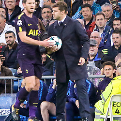 Mauricio Pochettino head coach of Tottenham Hotspur in action during Uefa Champions League (Group H) match between Real Madrid and Tottenham Hotspur at Santiago Bernabeu Stadium on October 17, 2017 in Madrid  (Spain) (Photo by Luis de la Mata / SportPix.org.uk)