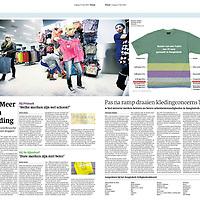 Trouw 17 mei 2013: Primark en andere goedkope (en dure) ketens in de textielindustrie