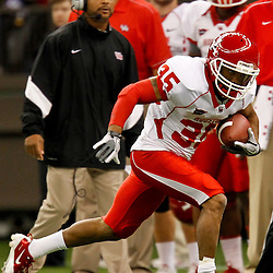 November 10, 2011; New Orleans, LA, USA; Houston Cougars wide receiver Tyron Carrier (35) against the Tulane Green Wave during the second quarter at the Mercedes-Benz Superdome.  Mandatory Credit: Derick E. Hingle-US PRESSWIRE