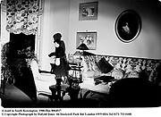 A maid in South Kensington. 1980.film 8064f17<br />© Copyright Photograph by Dafydd Jones<br />66 Stockwell Park Rd. London SW9 0DA<br />Tel 0171 733 0108
